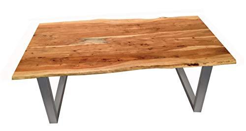 SAM SIT Tisch Esstisch, Akazie, Natur, 120 x 80 cm