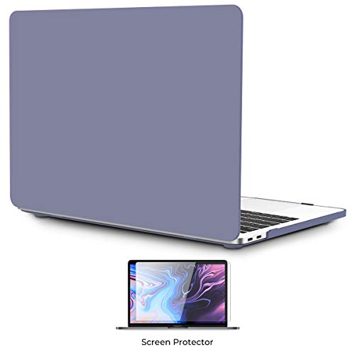 OneGET Macbook Pro 13 Inch Case with Touch Bar Laptop Case Pro13 2016 2019 Release A1989 A1706 A1708 A2159 Cream Color Series Plastic Hard Shell Cover for Pro 13 with Touch Bar (Lavender Grey)