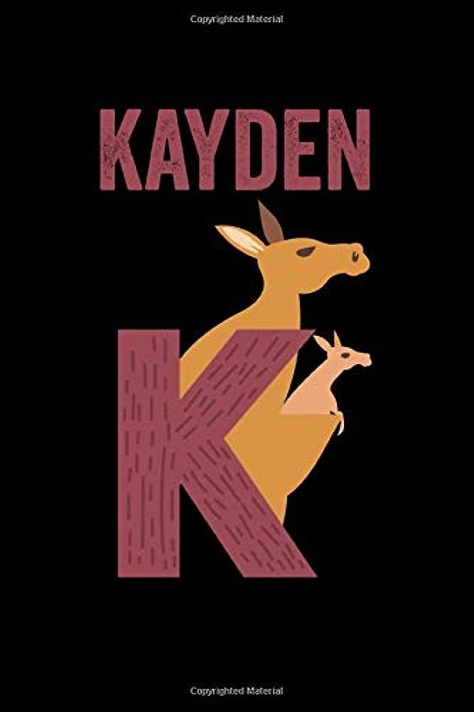 国際聖なる弱いKayden: Journal (Diary, Notebook) Personalized Custom Name Alphabet Kangaroo Birthday Gift for Boys