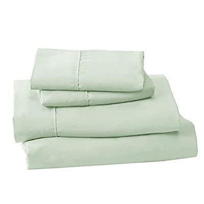 Lightweight Microfiber Sheets. Soft, Cozy Sheets. Breathable, Wrinkle Free Bed Sheet Set. Emery Collection (Full, Pale Green)