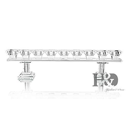 Gifftiy Chandeliershanukah kristal menora/kristallen kroonluchter met 9 heldere kaarsenhouders voor de bruiloft in de eetkamer of decoratieve café