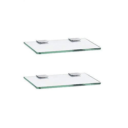 浴室用ガラス棚、シャワーラック、長方形のガラス(厚さ7 mm)の壁マウント 浴室のガラス棚 (色 : 2-layer, サイズ さいず : 40cm/15.7'')