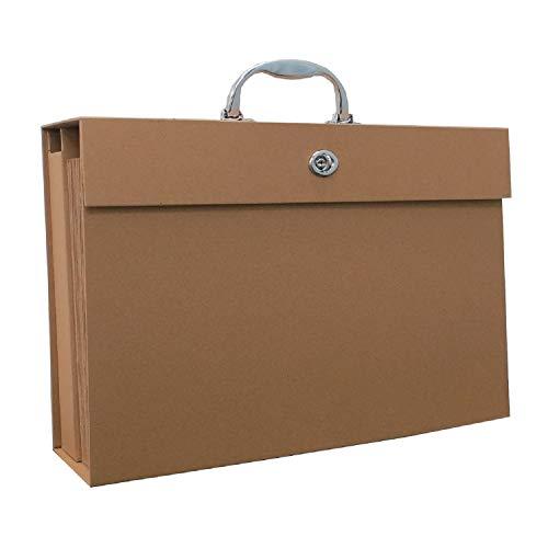 アイ・エス 手提げドキュメントケース A4サイズ 19ポケット+小物入 クラフト色 紙製 ISHB-01