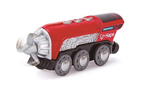 Hape- Circuit de Train en Bois-Locomotive à Hélice, E3750