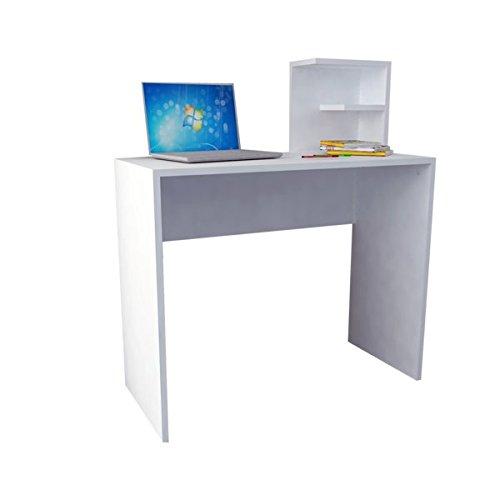 moebel17 Mesa de Trabajo de Madera Blanca, 90 x 40 x 103,8 cm