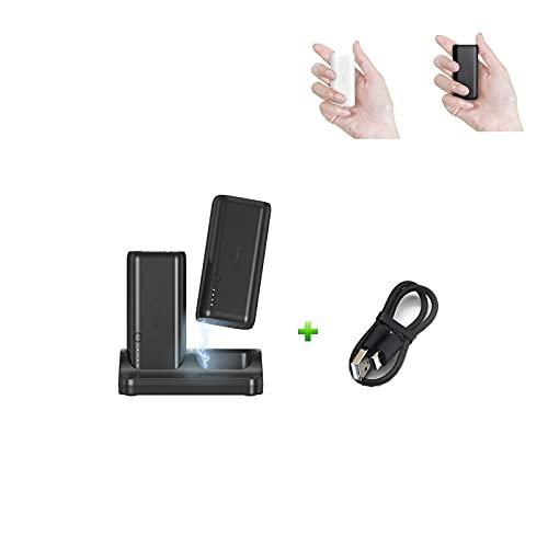 Auskang PowerBank mit Halterung [2 Stück] Externer Akku 5000mAh USB C Mini Tragbares Ladegerät Backup-Akku - Klein und leicht - für iPhone Samsung Huawei Xiaomi Kameras und andere