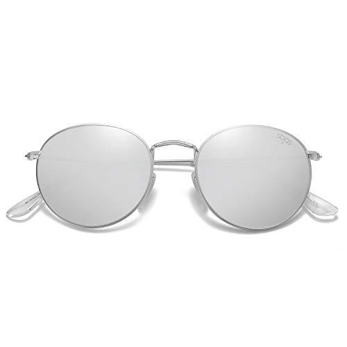 SOJOS Ronde Vintage Rétro Miroir Anti-UV Lunettes...