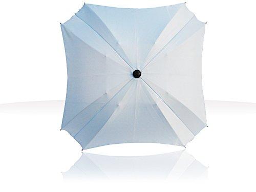 Parasol de poussette universel avec bras orientable, protection UV, diamètre 68 cm, carré