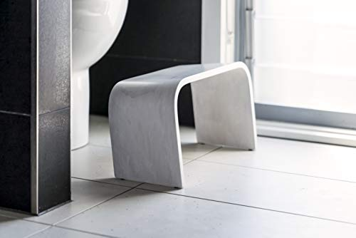 Squatty Adult Toilet Step Stool. This PROPPR Whitewash Timber Squatting Bathroom Stool Will Be The Perfect Undercover Agent in Your Bathroom.