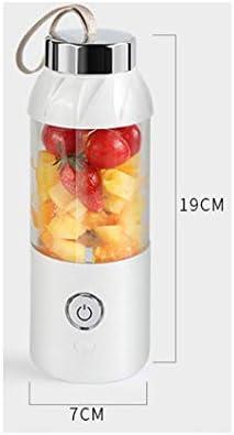 ECSWP Portable Presse-agrumes électrique 550ml sans fil automatique à usages multiples Mini tasse de jus USB Blender rechargeable (Color : B) A