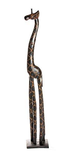 40cm Holz Giraffe Holzgiraffe Deko Afrika Style Handarbeit Fair Trade Dunkel Schlicht + Glücksbringer Armband