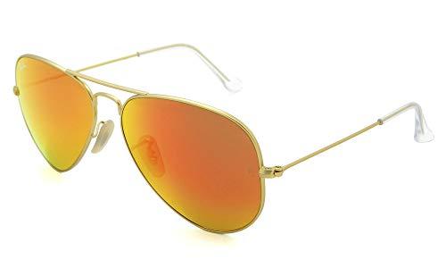 Óculos De Sol Ray Ban Aviator De Metal Dourado Fosco - 0Rb3025L 112/6958