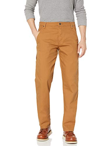 Dickies Tough MAX Duck Carpenter Pant Relaxed Fit Pantalones de utilidades de Trabajo, Canard Marron, 36W x 34L para Hombre