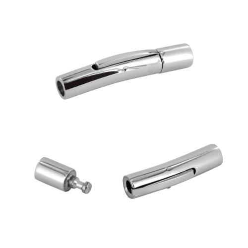 AURORIS - Hebeldruckverschluss aus Edelstahl - Loch: 3mm / 3 Stück