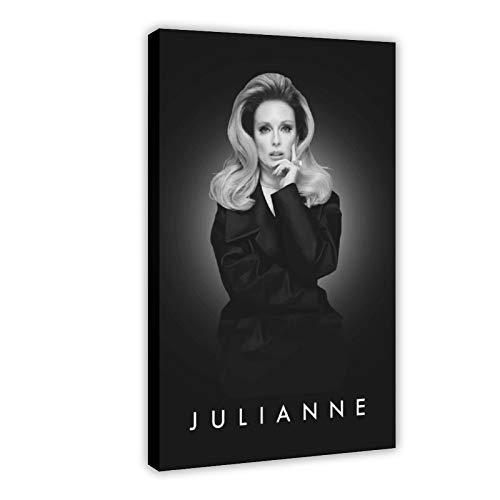 American Film And Television Attrice Julianne Moore 9 Tela Poster Arredamento Camera Da Letto Sport Paesaggio Ufficio Decorazione Camera Regalo 50 × 75 cm Frame-style1