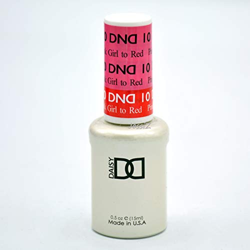 DND Daisy Soak Off Gel Mood Change - Pink Girl to Red 10