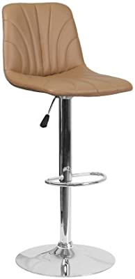 Astounding Amazon Com Wade Logan Clay Adjustable Height Faux Leather Gmtry Best Dining Table And Chair Ideas Images Gmtryco