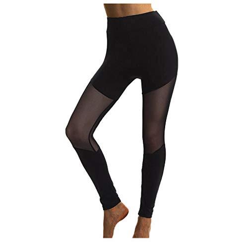 Legging Patchwork Stretch Femme Fitness Running Gym Pantalon de Yoga de Sport