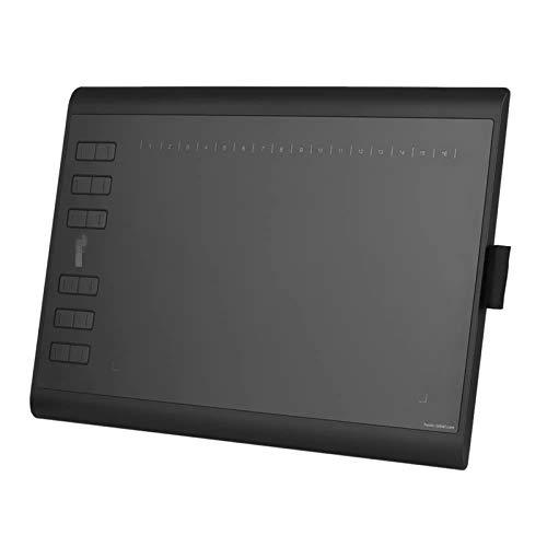 DYecHenG Tabletas de Dibujo de Gráficos Tableta De Gráficos De Dibujo Portátil con Tarjeta De Memoria 8G Pluma Digital Recargable para Retoque Fotográfico (Color : Black, Size : 36 * 24 * 1cm)
