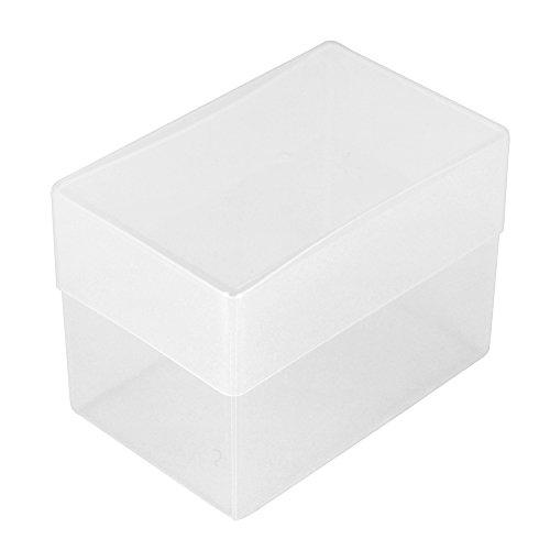 WestonBoxes Visitenkarten-Box, Kunststoff, 70 mm tief (Farblos, 5 Stück)