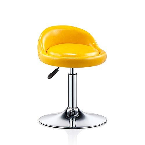 WYZQQ Barkruk met in hoogte verstelbare rugleuning van PU-leer, kruk voor keuken eetkamer stoel schoonheid kruk