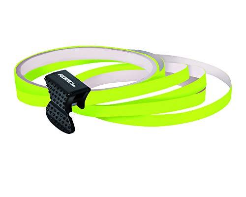 Foliatec PIN Striping Felgendesign Inkl. Montagetool - neon gelb - 4 Streifen 6mmx2,15meter & 1 Testrolle 6mmx40cm