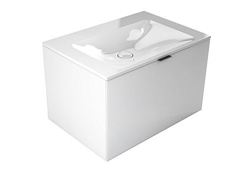emco monolith Waschtisch mit Unterschrank ohne Armaturbohrung Weiß 717 mm