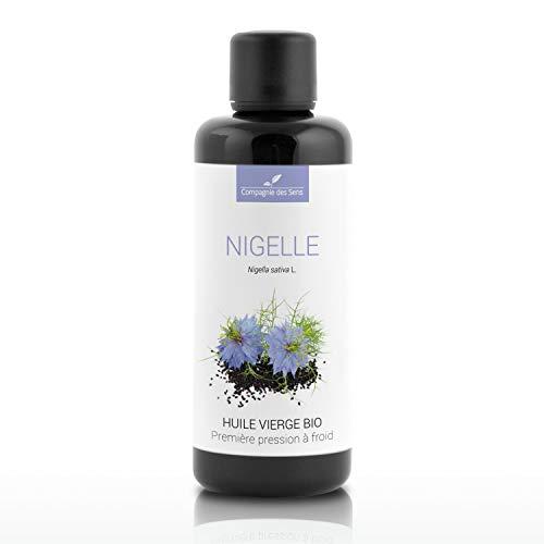 Nigelle - Huile Végétale Vierge BIO - Flacon en verre - Première pression à froid - 100mL