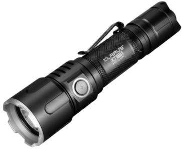 Klarus XT11S + 1100 Lumens Lampe torche tactique LED 1100 lumens, portée max 330 m, IPX8, batterie 18650 rechargeable 2600 mAh avec charge externe par micro USB - CREE XP-L HI V3