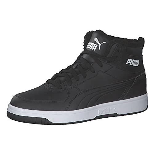 PUMA Unisex Rebound Joy Fur Sneaker, Schwarz Weiß, 42 EU