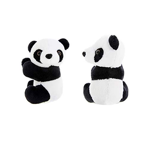 Warmtree toy 4 inch Cute Plush Panda Clip Note Clip Stand Photo Holder Stand Memo Clip,Pack of 2