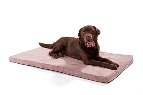 Woofery - Hundematte Basil - rutschfest orthopädisch XL 100 x 70 cm Pink
