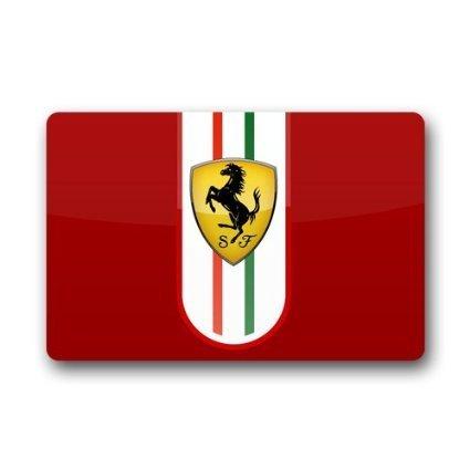 SENL Paillasson avec logo Ferrari (59,9 x 39,9 cm) Paillasson intérieur/extérieur