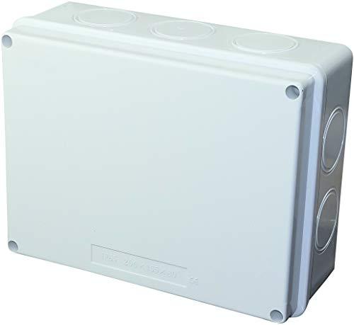 AERZETIX - Caja de Derivación Eléctrica Rectangular 200x155x80mm - Caja de Empalme/Distribución Impermeable IP65 - Lisa superficie - en Aplique - Soporte - Fijación - C45804