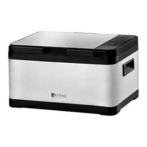 Royal Catering RCSV-01 Sous-Vide Garer Vakuumgarer (800 W, 230 V, 0-90 °C, 10 L Becken, Timer, LED Display, Edelstahlgehäuse) Silber