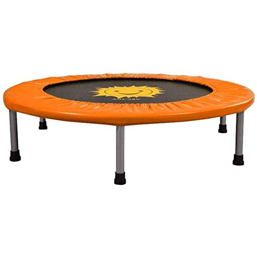 Big Shark Fitness Mini Trampoline, Indoor Small Rebounder Exercise Trampoline for Workout Fitness for Quiet and Safely Cushioned Bounce 36/40 Inch (Color : Orange, Size : 36 inches)