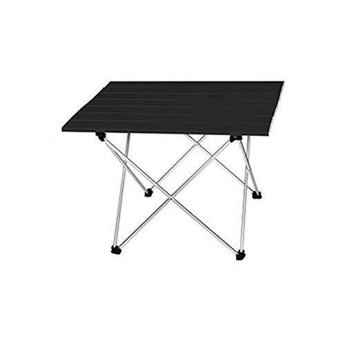 Mesa plegable ligera Aleación de aluminio de alta resistencia Portátil ultrafiro Plegable Mesa de picnic plegable Mesa de comedor al aire libre Familia Recolección Picnic para Camping / Banquete / Fie