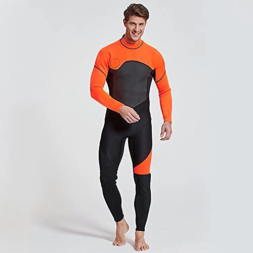 PREMIULES DE Adultos STUSUITS Ultra STRENSULT Hombres Hombres Hombres JUVTICOS Neopreno Traje de baño Manga Larga Ajustable Cuello Atrás Cremallera Traje de Buceo para Nadar Snorkeling,M