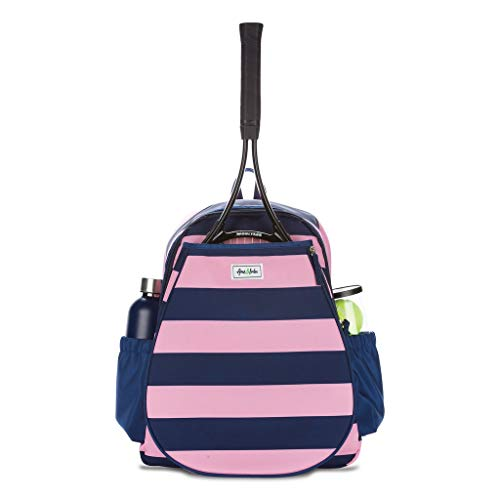 Ame & Lulu Game on Tennis Backpack (Bubbly), 12.5 L x 5.5 W x 17 H