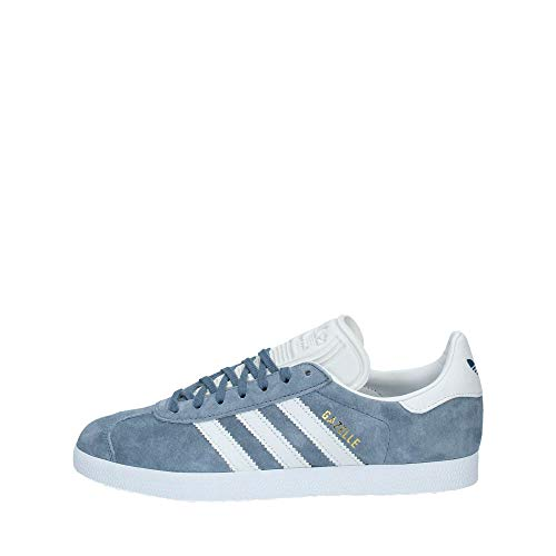 adidas Gazelle, Scarpe da Ginnastica Basse Uomo, Grigio (Raw Steel S18/Crystal White/Ftwr White Raw Steel S18/Crystal White/Ftwr White), 40 EU