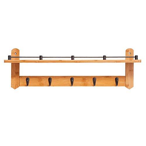 WAJI Slaapkamer massief houten vacht rek, muur hanger, woonkamer plaats 5 links, stijlvol en handig, ruimte besparen