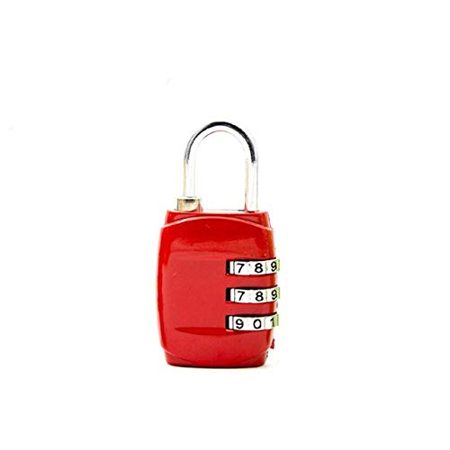 DGDHSIKG Lock Travel Lock 3 dial Travel Padlock Simple Combination Lock Luggage Gym Lock,red 1pcs