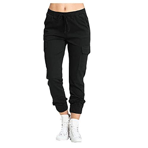 ldgr Sweatpants for Women with Pockets Drawstring Elastic Waist Pencil Pants,Outdoor Sports Jogger Running Walking Pant