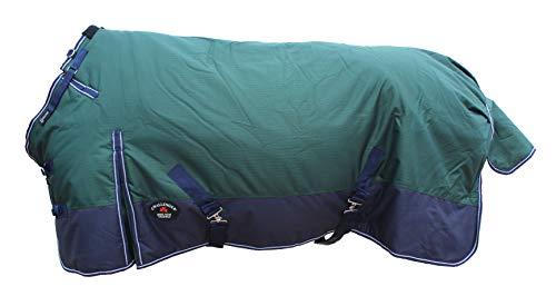 CHALLENGER 78' 1200D Turnout Waterproof Horse Tough Winter Blanket Heavy Green 513