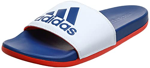adidas Adilette Comfort, Infradito Uomo, Bianco (Ftwbla Azurea Rojsol), 43 1/3 EU