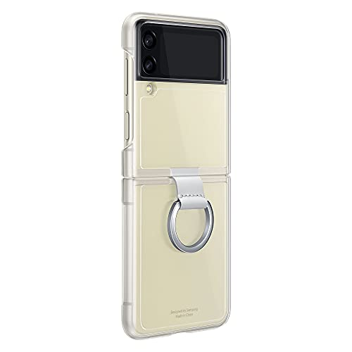 Samsung Clear Cover with Ring per Samsung Galaxy Z Flip3 5G, Transparent