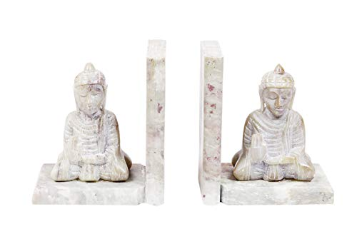 Handmade Buddha Book Ends Hand Carved Soapstone Decorative Bookend Home Décor Book Ends