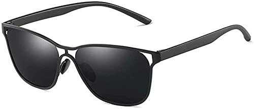 Gafas de sol de negocios con lentes de sol de color negro, gris, dorado, polarizadas (color: gris)