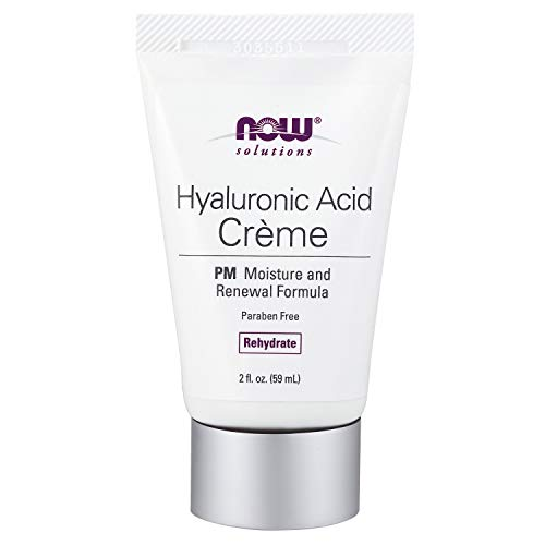 NOW Solutions, Hyaluronic Acid Creme, Rehydrating Moisture and Renewal Formula, 2-Ounce