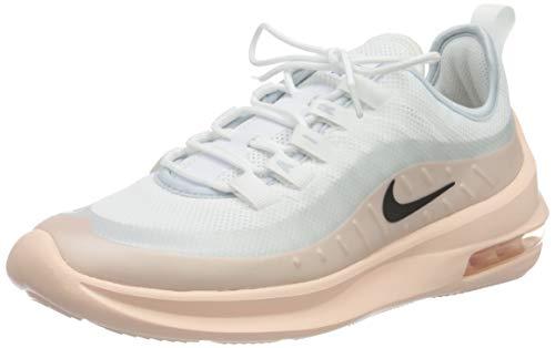 Nike Womens WMNS AIR MAX AXIS Running Shoe, WHITE/BLACK-WASHED CORAL-AURA, WHITE/BLACK-WASHED CORAL-AURA, 37.5